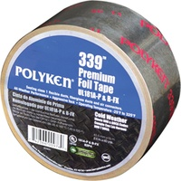 Polyken Cold Weather Premium Foil Tape - UL 181A-P & 181B-FX Listed Alum. 2.5x60