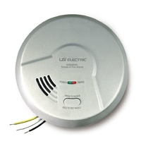USI Electric Hardwired 2-in 1 Smoke and Fire Alarm with 10 Year Sealed Battery Backup